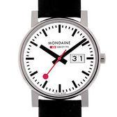 3.5cm Big Date 經典腕錶-紅/黑兩色任選 Mondaine 瑞士國鐵錶