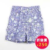 【愛的世界】鬆緊帶純棉反摺短褲/2~3歲-台灣製- ★春夏下著