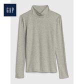 Gap女童舒適長袖高翻領上衣499206-淺麻灰色