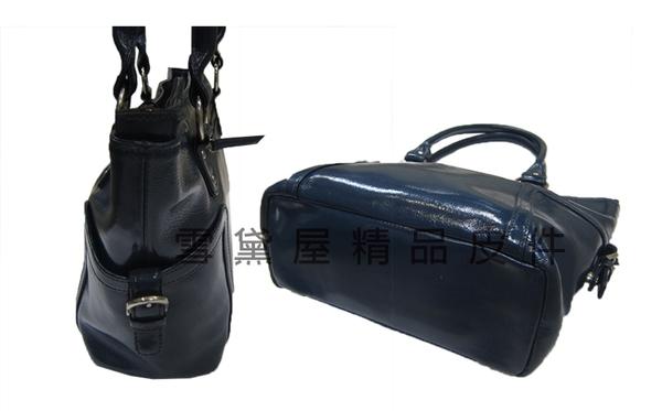 ~雪黛屋~JOANNA 托特包中型容量主袋內二隔層二拉鍊暗袋100%鏡面防水防刮牛皮格手提肩背J33006
