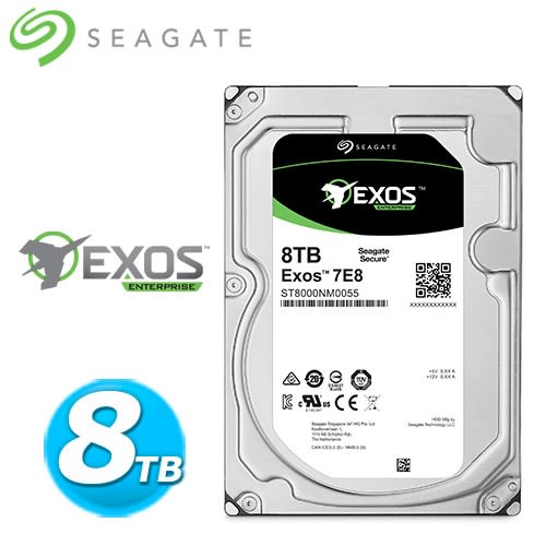 Seagate【企業級】8TB 3.5吋Enterprise硬碟 (ST8000NM0055)