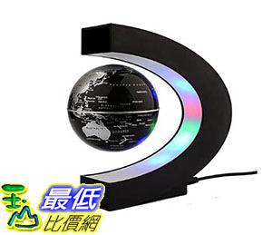 美國直購 懸浮地球儀 Magnetic Levitation Floating 3 Inches Globe World Map with LED Ligh