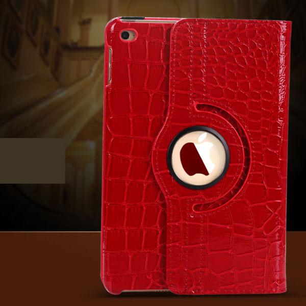 iPad Pro 9.7吋 鱷魚紋保護套 皮套 360度旋轉智能休眠 保護套