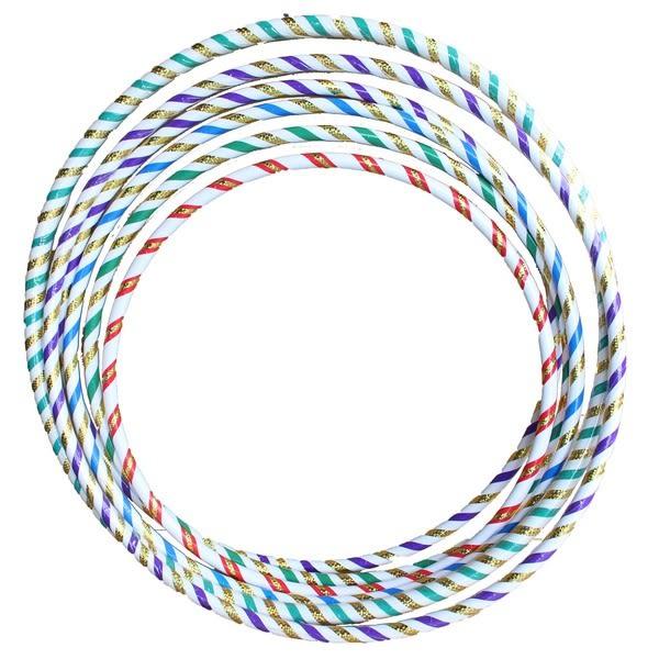 呼啦圈 5號雷射晶晶彩虹呼拉圈 (中彩帶)/一個入{定180} 直徑約76cm~台灣製造~