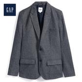 Gap男裝休閒V領西裝外套短款527624-經典新海軍藍