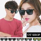 OT SHOP太陽眼鏡‧台灣製MIT彈簧眼鏡框中性情侶明星鉚釘膠框大方框炫彩墨鏡‧現貨七色‧H04