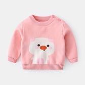嬰兒毛衣 嬰幼兒線衣兒童套頭冬裝女童秋裝0 一1 歲寶寶針織衫男小山好物