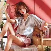 睡衣女夏季棉質短袖韓版日式寬鬆清新學生可外穿家居服兩件套裝