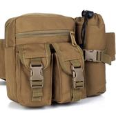 多功能水壺腰包 大容量男腰包戶外戰術腰包跑步包帆布旅行手機包