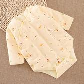 嬰兒棉花包屁衣 寶寶棉長袖三角哈衣 幼兒童加厚連體睡衣服秋冬【快速出貨】