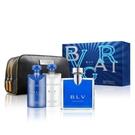【南紡購物中心】BVLGARI 寶格麗藍茶男性經典香氛禮盒 (淡香水100ML+沐浴膠75ML+鬍後乳75ML+盥洗包)