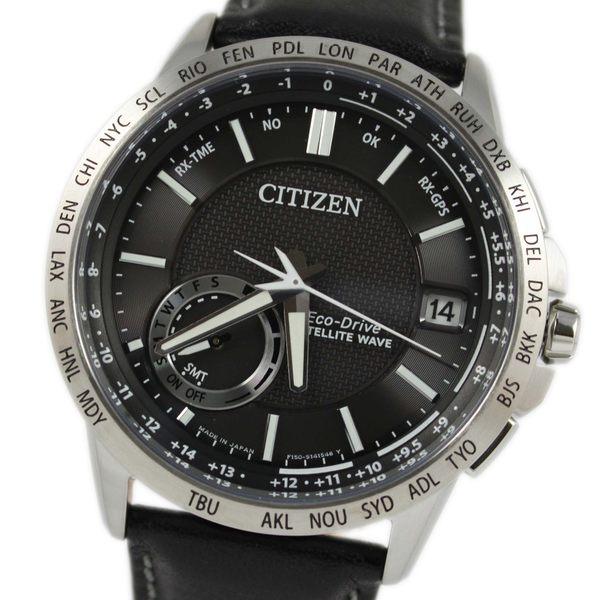 【萬年鐘錶】星辰 CITIZEN  Eco-Drive光動能 紳士皮帶 衛星 GPS定位對時 感光等級指示  CC3001-01E