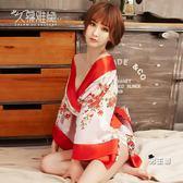 日系和服久慕雅黛性感睡衣女夏火辣成人騷情趣內衣透視開檔露乳日式和服