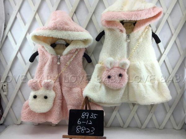 ☆╮寶貝丹童裝╭☆ 簡單 貴婦 立體 兔子 素面 圖案 女童 帽子 背心 新款 現貨 ☆