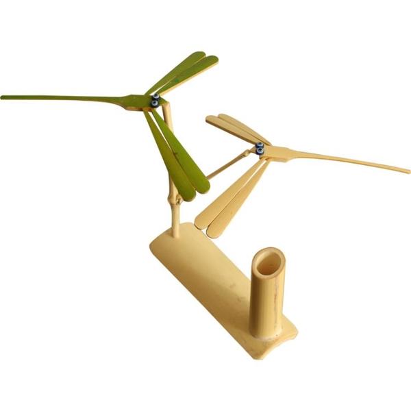 平衡竹蜻蜓手工木質懸浮重力不倒翁網紅平衡鳥創意擺