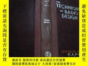 二手書博民逛書店THE罕見TECHNIQUE OF RADIO DESIGN 外