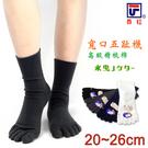 【衣襪酷】費拉 高級精梳棉 寬口五趾氣墊襪 半毛巾底 台灣製