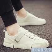 小白鞋男 新款春季韓版潮流男鞋百搭帆布休閒平底板鞋透氣潮鞋 快速出貨