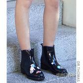 DR春夏時尚休閒短筒女式水靴膠鞋套鞋雨靴防滑水鞋戶外成人雨鞋女「時尚彩虹屋」