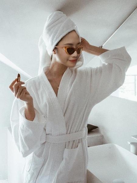 白色浴巾全棉浴袍
