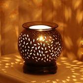 古典古樸陶瓷香薰燈 插電臥室精油燈臺燈創意美容院可調光