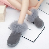 低筒雪靴-時尚簡約保暖百搭女厚底靴子4色73kg64【巴黎精品】