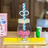 【BlueCat】透明梅森瓶造型吸管生日卡片