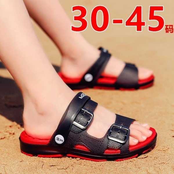 兒童拖鞋 男童拖鞋夏季兒童涼鞋室外穿浴室軟底防滑涼拖鞋沙灘鞋大童洞洞鞋