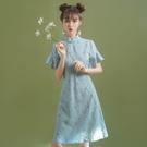 旗袍改良版洋裝2021年新款小個子碎花學生日常年輕款少女中國風 好樂匯