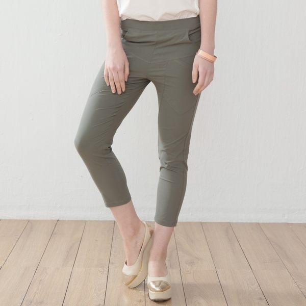 【衣大樂事】MIT時尚剪接薄布中褲