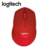 【Logitech 羅技】M331 靜音滑鼠-紅