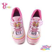Aikatsu偶像學園 中童 星宮莓 明里 運動鞋 電燈鞋 慢跑鞋 台灣製 正版 L7367#粉紅◆OSOME奧森鞋業