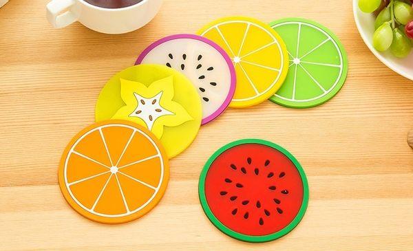 [協貿國際] 清涼夏日繽紛果凍色水果造型杯墊 (15個價)
