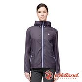 【wildland 荒野】女 N66透氣抗UV印花輕薄外套『深紫』0A91915 戶外 休閒 運動 露營 登山 吸濕 排汗