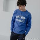 【GIORDANO】男裝 Dreamers系列復古風大學T恤 - 21 奧運藍