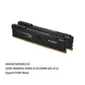 新風尚潮流 【HX434C16FB3K2/32】 金士頓 桌上型 超頻記憶體 DDR4-3466 16GB x2