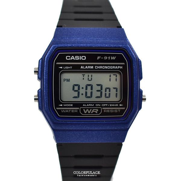 CASIO手錶 亮藍錶殼電子膠錶NECD4