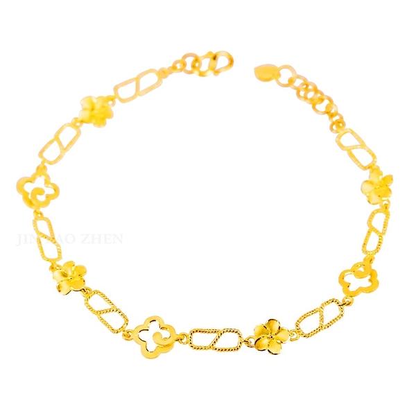花香綻放-花朵黃金手鍊