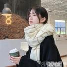 圍巾 圍巾女秋冬季學生日系厚潮ins韓版百搭英倫格子可愛少女圍脖必備 交換禮物