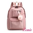 【Lemio】可愛小兔兔牛津迷你雙肩包(粉紅)