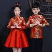 兒童表演服裝 男女童唐裝中國風演出服漢服 cosplay
