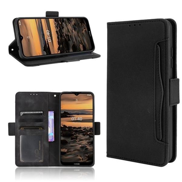 諾基亞 Nokia 1.4 多卡槽 錢包款 手機殼 Nokia1.4 磁釦 掀蓋保護殼 翻蓋皮套 支架插卡 手機套