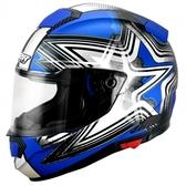 【OUTLET出清商品】M2R F-5 藍-銀色 全罩安全帽