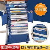 書袋學生掛書袋課桌收納袋掛袋書本書立課桌書桌掛袋多功能放書袋 米娜小鋪