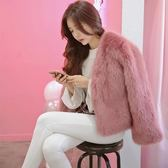 皮草外套女短款秋冬韓版仿狐貍毛上衣時尚保暖毛絨絨外套-BB奇趣屋