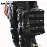 戶外包 多功能帆布腿包 戰術包戶外運動騎行綁腿包工具包一件免運