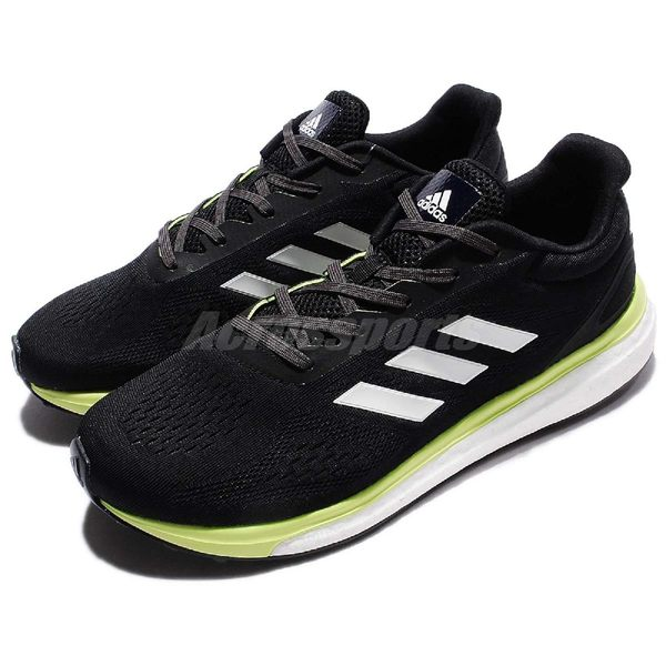 adidas 慢跑鞋 Response IT M 黑 綠 白底 BOOST中底 運動鞋 男鞋 【PUMP306】 BB3420