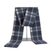 羊毛圍巾-針織提花英倫風格子男披肩3色73wh56【時尚巴黎】