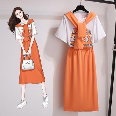 辣妹套裝兩件套~裝鹽系炸街休閑時尚套裝女洋氣時髦半身裙三件套3F046C日韓屋