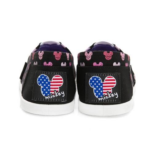 DISNEY 可愛滿點 滿版米奇印刷懶人鞋-黑(女)
